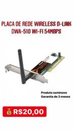 Placa De Rede Wireless D-link Dwa-510 Wi-fi 54mbps