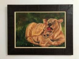 Quadro leão com filhote