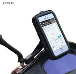 Suporte de Celular com Case Impermeável. Carrega Smartphone Usb Moto!!
