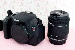 Canon T5I perfeito estado + lente 18-55 + lente 50mm + kit de lentes e filtros + bolsa