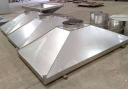 Coifa de Aço inoxidável industrial.