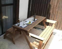 Banco mesa de madeira