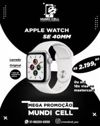PROMOÇÃO MUNDICELL APPLE WATCH SE 40MM LACRADO ORIGINAL UM ANO DE GARANTIA APPLE