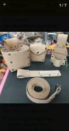 Cinto porta ferramentas arriata carpinteiro couro legítimo