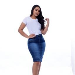 Saias Jeans Secretaria Kit 10 Atacado