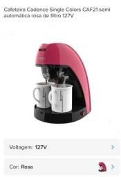 Cafeteira Candece single color rosa CAF21 Semi Automática