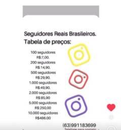 Seguidores reais e brasileiros com reposição de 30 dias