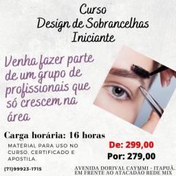 CURSO DESIGN DE SOBRANCELHAS PARA INICIANTES