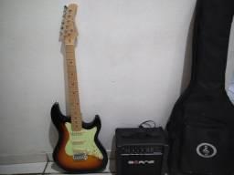 Guitarra + amplificador + bag