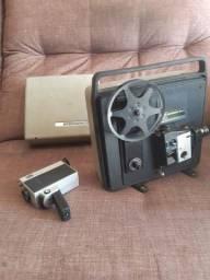 Projetor e câmera para filme Super 8