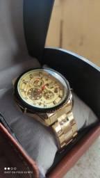Relógio Masculino FORSINING Automático Luxo Prova D'água