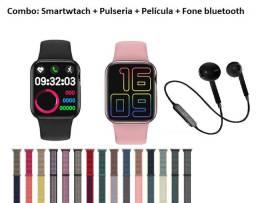 Relógio Smartwtach HW 12 Série 6 + Pulseira + Película + Fone