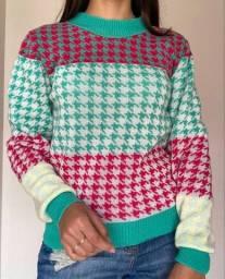 Blusão Lã tricolor