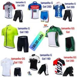 Conjuntos  ciclismo, bermudas 19D e 20D
