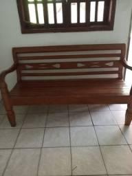 Conjunto de sofá de madeira maciça
