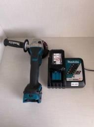 Esmerilhadeira Angular à Bateria 18V DGA517 com Bateria 5,0 AH e Carregador Bivolt MAKITA