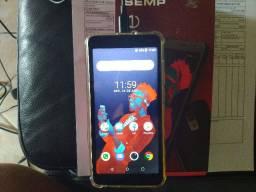 """Smartphone Semp 3e, Tela 5"""", Câm Traseira 8mp E Frontal 5mp, 8gb 1gb ram"""