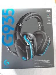 Headset Gamer Logitech G935, Sem Fio, RGB, Som Surround 7.1, Drivers Pro-G de 50mm