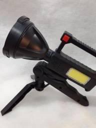Lanterna com Tripé Potente Lâmpada de Mão  Recarregável LED