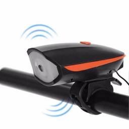 Lanterna farol bike buzina recarregável//entrega gratuita