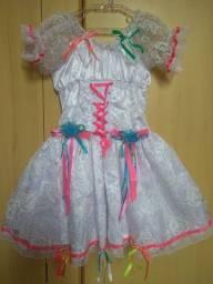 Vestido de Noivinha de Festa Junina Luxo