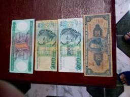 Diverssas Cédulas Notas de Dinheiro