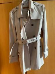 Casaco trech coat sobretudo londrino da Amaro 44 G