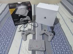 Playstation ps1 classic mini com 20 jogos na memória