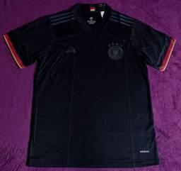Camisa da Alemanha preta (disponível: GG)
