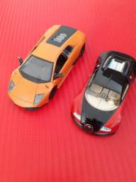 Miniatura Lamborghini Murciélago LP 670-4 SV &  Miniatura Bugatti Veyron