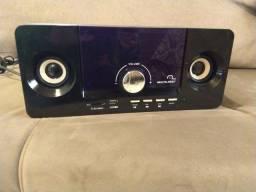 Rádio Multilaser entrada USB e cartão SD/MMC