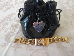 Exclusivo - Relógio Feminino Guess Ouro Rosado Mod. U0321L3