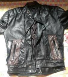 Jaqueta masculina de couro ( 100% couro)