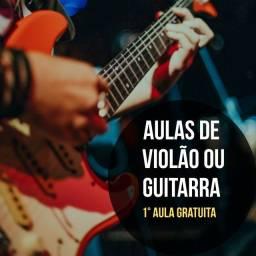 Aulas de guitarra! Faça uma aula totalmente GRATUITA!