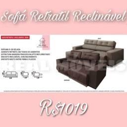 SOFÁ SOFÁ RETRÁTIL RECLINÁVEL (PROMOÇÃO)!!!