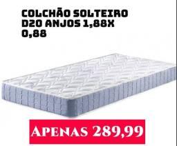 Colchão solteiro D20 da marca Anjos. Entrega grátis em Macaé.