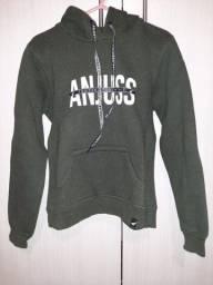 Título do anúncio: Blusa de moletom verde escuro Anjuss