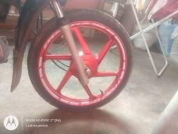 Troco em rodado com freio a disco