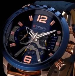 Relógio CURREN (C/ Cronógrafo) Azul / Dourado