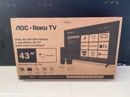 Smart Tv led AOC 43 polegadas nova na caixa sem uso