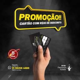 Cartão de Visita Premium - Entrega Rápida*