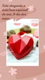 Corações e diamantes lapidados