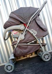 Kit Galzerano Maranello unissex carrinho com bebê conforto semi-novos