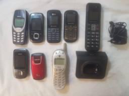 Telefones aparelhos oito unidades