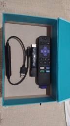 Roku Streaming Stick Full HD 4k e Controle de Voz