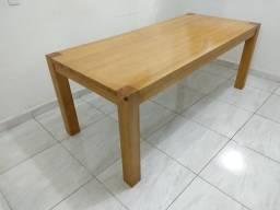 Mesa em madeira maciça tok stok