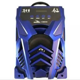 Caixa De Som Grasep Bluetooth Usb,sd,aux,rádio,mp3 (Entrega Grátis)