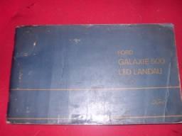 Galaxie 500/landau manual do proprietario 1972