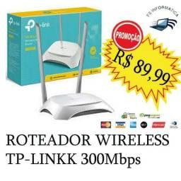 Roteador TP-Link Wireless N 300Mbps TL-WR849N novo (entrego)