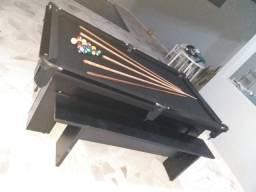 Mesa Charme Semi Cor Preta Tecido Preto Mod. LFLT8792